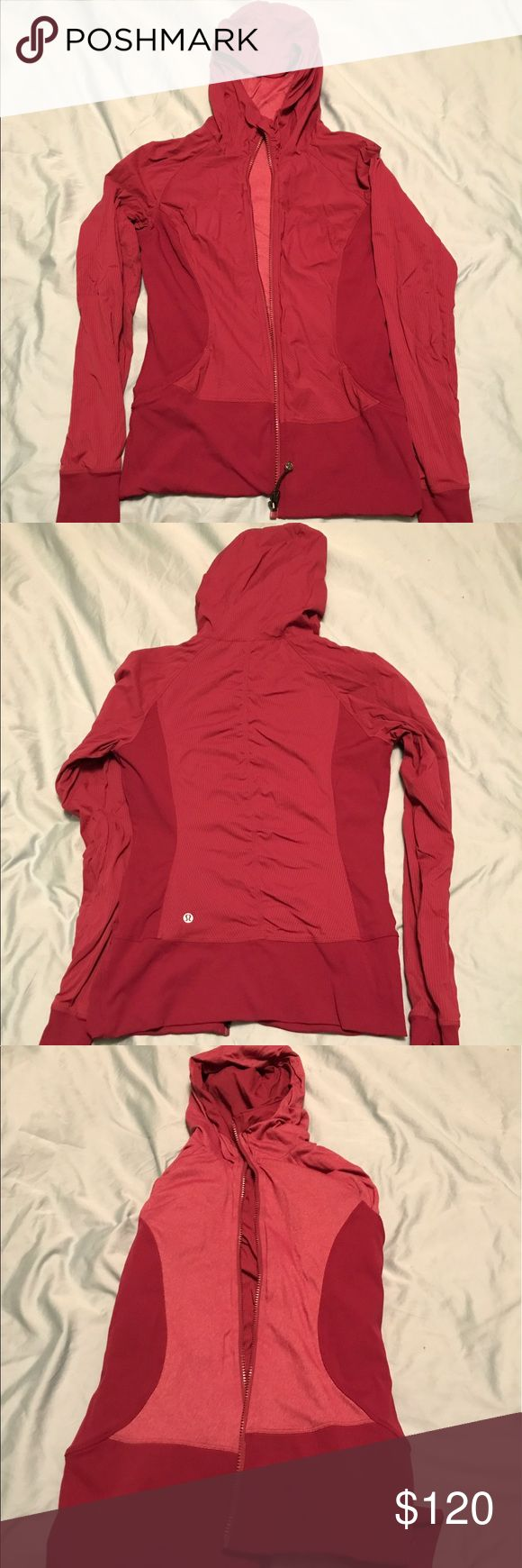 Lululemon In Flux Jacket Great comfortable burgundy athletic jacket from lululemon. Good and water repelling, reversible, super soft on the inside. In excellent condition! Size 8 lululemon athletica Jackets & Coats