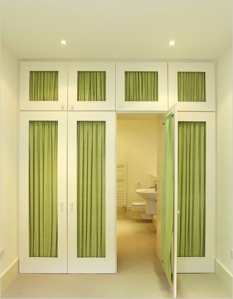 closet doors donu0027t have to be plain and boring you can easily dress up closet doors with fabric wallpaper or even cut out sections and add moulding and