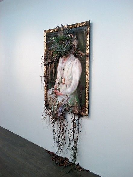 "Valerie Hegarty (*1967), ""Woman in White"" (2012) - the works of this exceptional and prolific artist have been dubbed 'decaying fine art'"