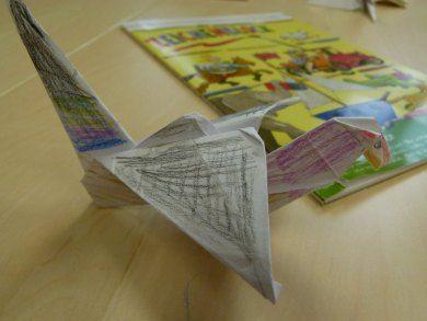 Kinder basteln mit Frank Koebsch Kraniche – OstseeZeitung #Kraniche #Aquarelle #Ausstellung #watercolor #crane #origami