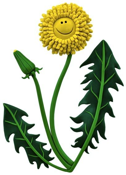 Clay Illustration-Dandelion