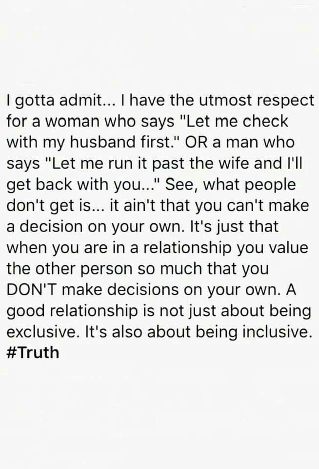 Yes Yes Abs Yes Spouse Quotes Respect Relationship Quotes Husband Quotes