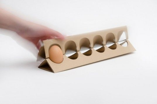 Otília Erdélyi, egg carton, cardboard design, envrionmentally friendly design, Moholy-Nagy University, simple design, redesign, egg box, cardboard egg box