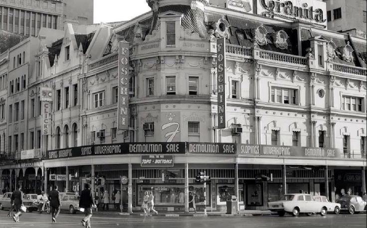 Corner of Adderley and Strand streets c1970 | The Manne Bros. building just prior to demolition.