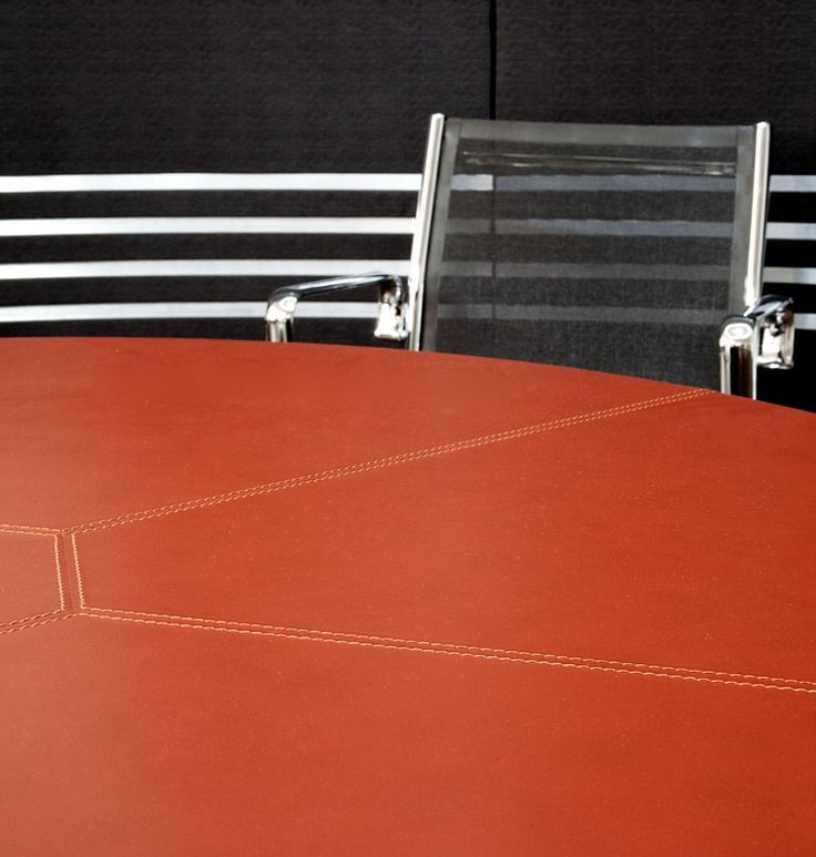 Leather meeting table