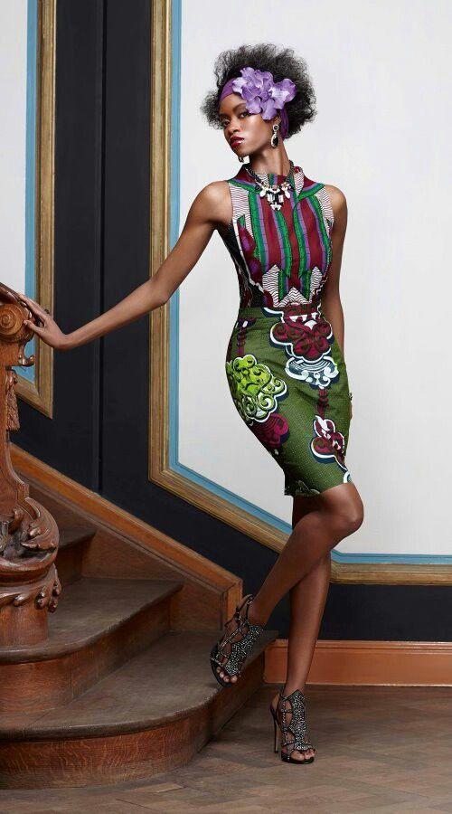 Robe en wax Vlisco [#pagne #wax #tissuafricain]