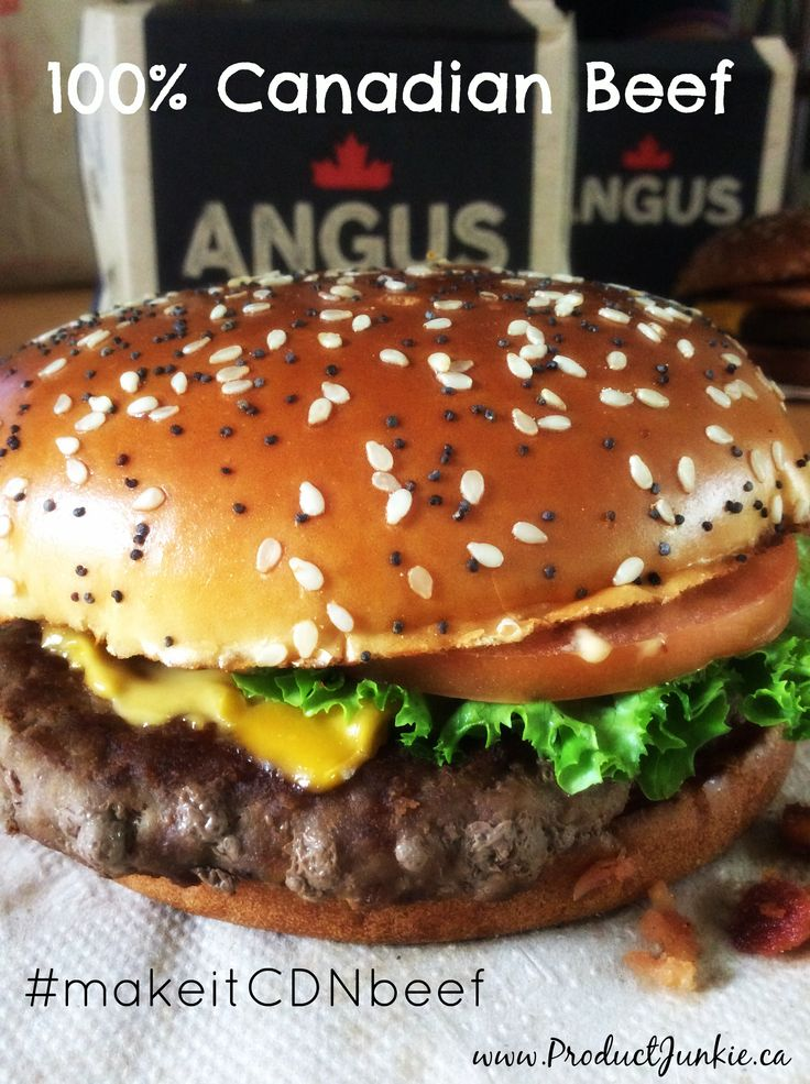 100% Canadian Angus Beef: New Mighty Angus Burger #makeitCDNBeef Twitter Party August 18th & #Giveaway