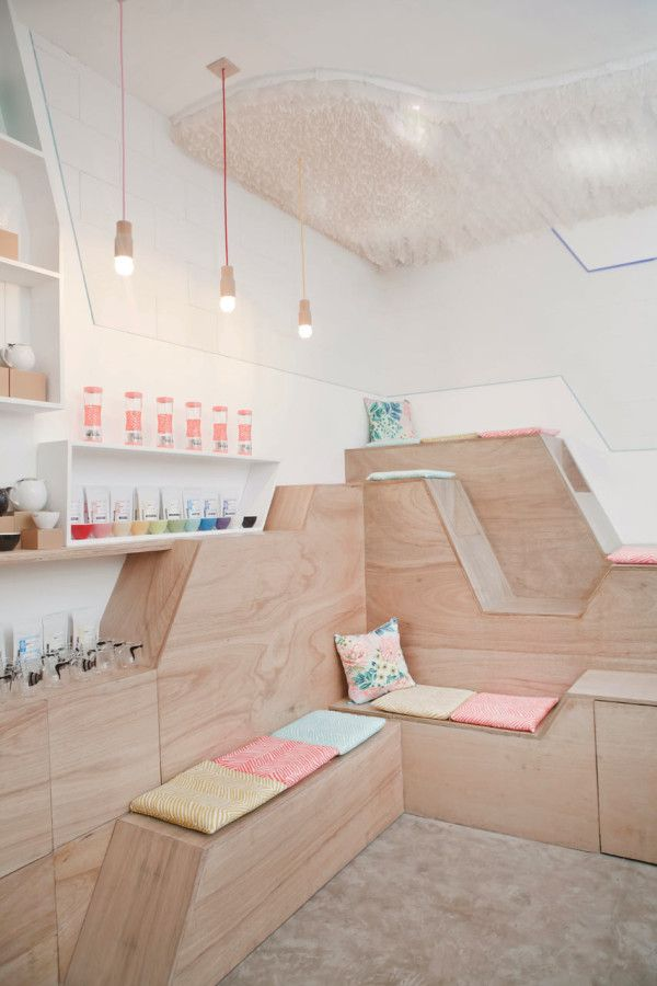 This Tea House with Filipino Roots uses Wood & Colors perfectly  #interior #design