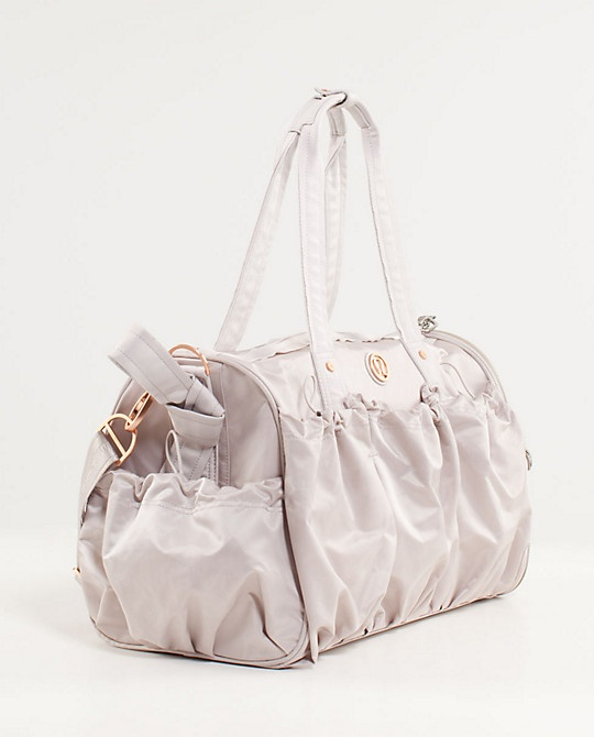 a2e5f5851b59 Legendary Duffel in bold blossoms embossed dune from Lululemon. Why can t I  want a cheaper gym bag