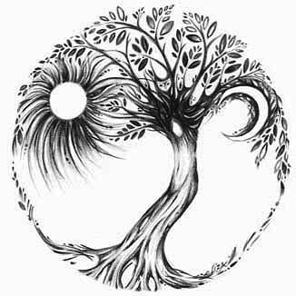 Tree of life. Now the night is coming to an end, The sun will rise and we will try again.