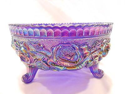 Imperial Glass Cobalt Blue Carnival Open Rose Bowl 3 Toed w/Tag | eBay <3
