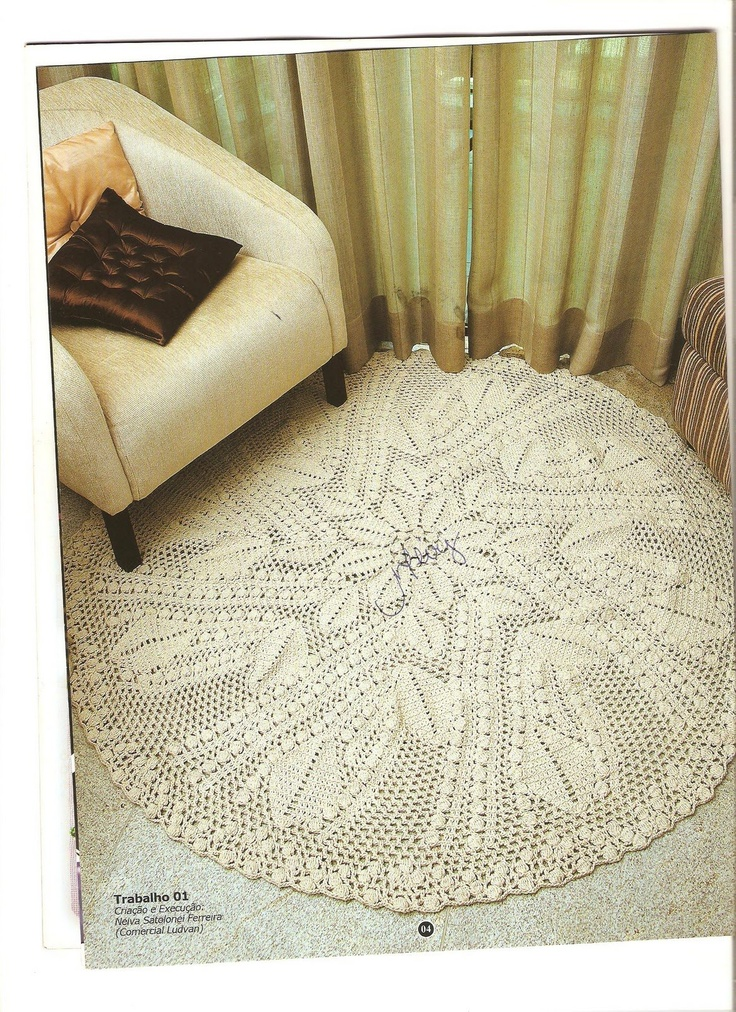205 best images about Crocheted rugs/Mats/Tapete on Pinterest  Round rugs, Posts and Knit crochet