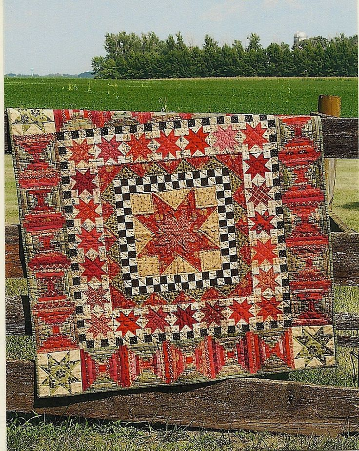 Primitive Folk Art Quilt Pattern: 30 STARS for 30 YEARS - Country Living. $9.75, via Etsy.