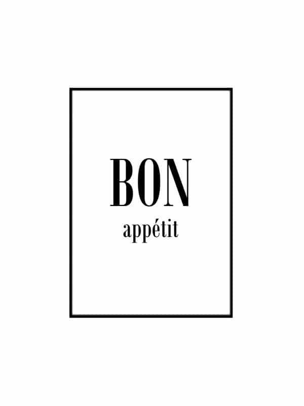 Poster – Bon appetit - Storlek 21x30