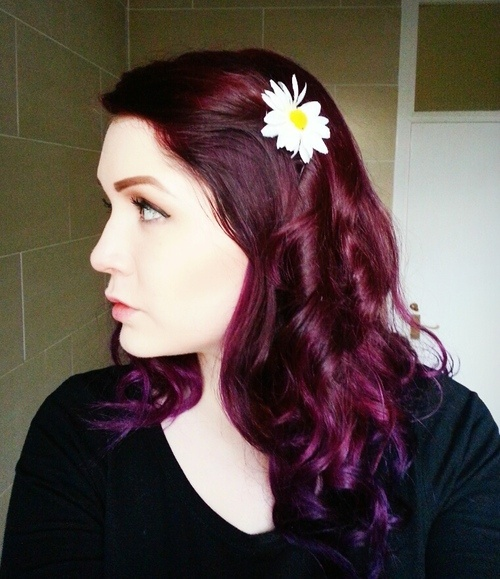 Wine Colored Hair with Purple Ends | Just Whip It ...