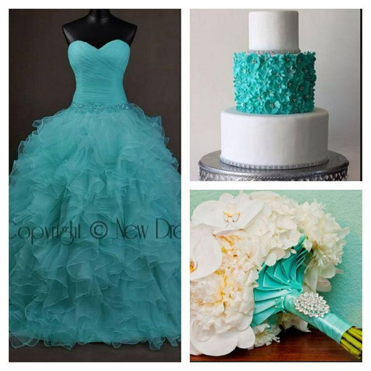 Tiffany color wedding mix.see more at www.yournewdreams.com