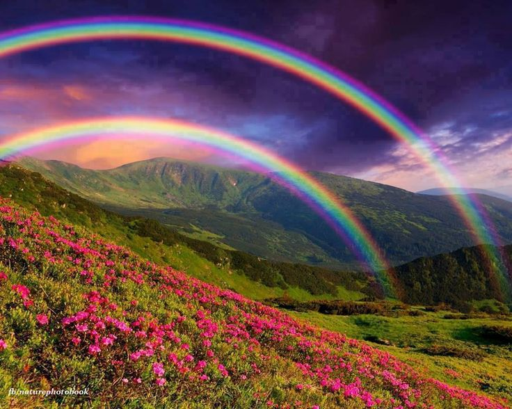 Double Rainbow... such splendor!!  WOW!!