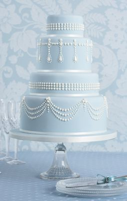 Indian Weddings Inspirations. Blue wedding cake. Repinned by #indianweddingsmag indianweddingsmag.com #classic_cakes