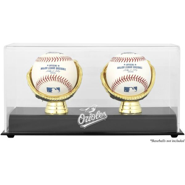 Baltimore Orioles Fanatics Authentic Gold Glove Double Baseball Logo Display Case - $34.99