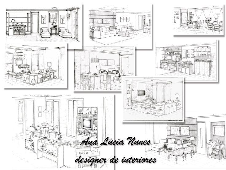 Salas de Estar - Projeto Designer Ana Lucia Nunes