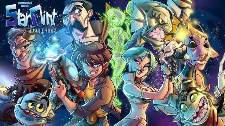 StarFlint: Sci-Fi adventure - A comedy cosmic space point and click adventure. Lucas Arts style and mature game!