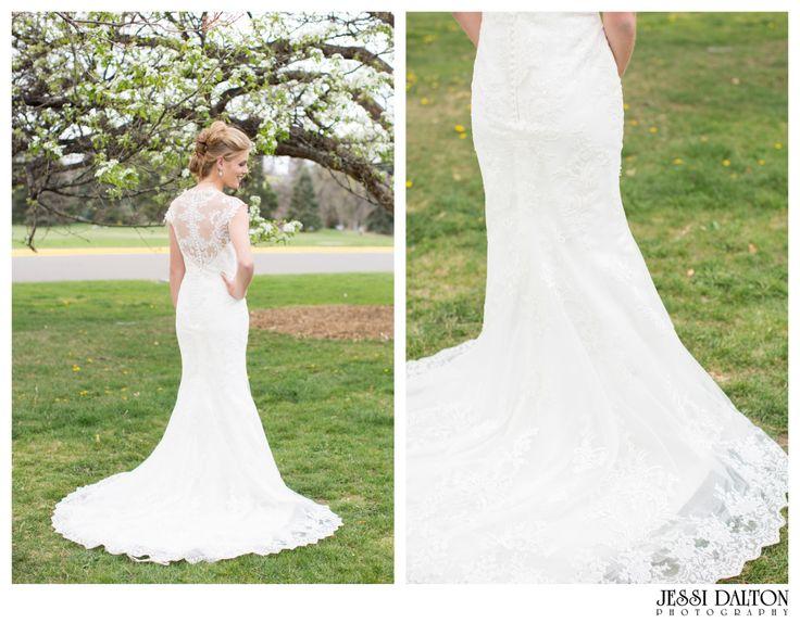 Bride | Casablanca Dress | Bridal Romance | Sara Gabriel Earrings | Colorado Wedding Photographer | Jessi Dalton Photography | www.jessidalton.com