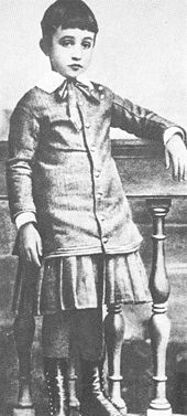 Eugenio Pacelli [Pope Pius XII] at the age of six in 1882
