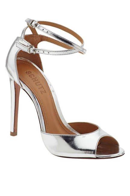 The hottest summer sandals: Schutz silver peep toe heels