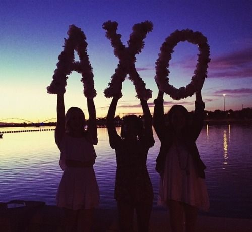 Alpha Chi Omega Letter Silhouette #asuaxo #sunset #alphachi #tempetownlakes