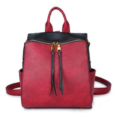 0fa8990588b3 Luxy moon Backpack Women PU Leather Shoulder Bag Female Teenage Girls Bag  2018 Patchwork Backpacks Multifunction Mochila XA517H