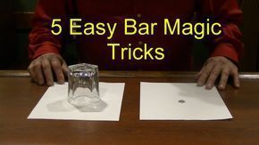 5 Easy Bar Magic Tricks Epic Cool Simple Magic Trick - YouTube #easymagictricks #simplemagictricks