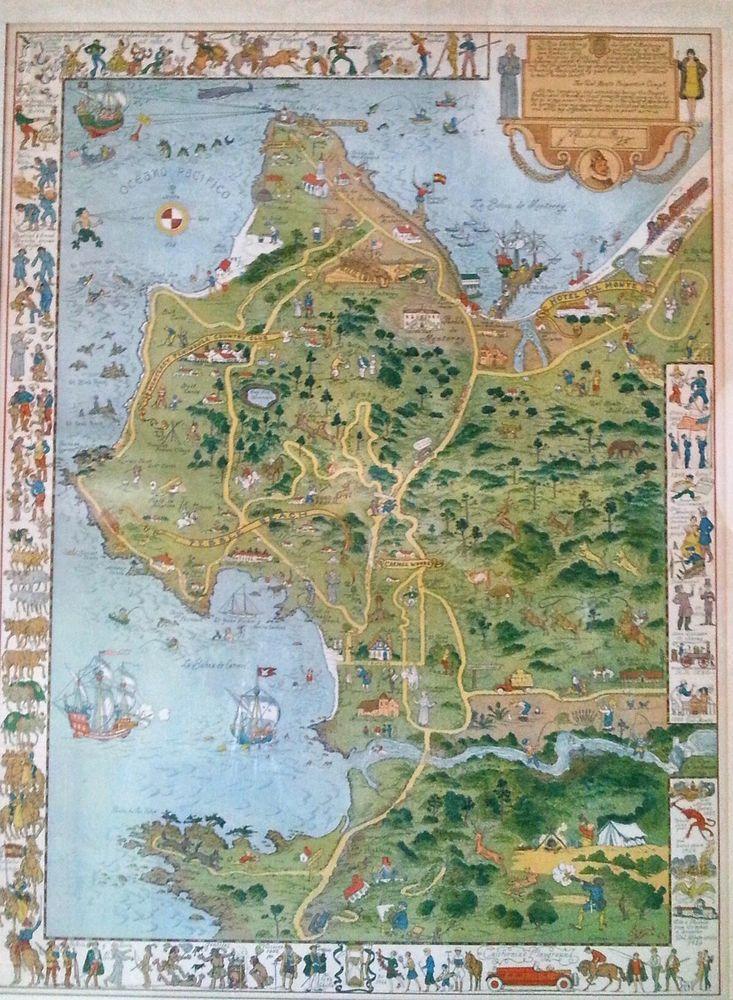 Antique Jose Mora Monterey Peninsula California print