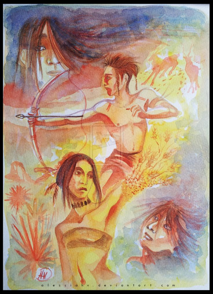 Kanati, Selu and the two Thunders. by AlessiaHV.deviantart.com on @DeviantArt