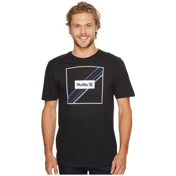 Hurley Steps T-Shirt (Black) Men's T Shirt (79 BRL) ❤ liked on Polyvore featuring men's fashion, men's clothing, men's shirts, men's t-shirts, mens striped t shirt, j crew mens shirts, mens classic fit shirts, hurley mens shirts and mens crew neck t shirts