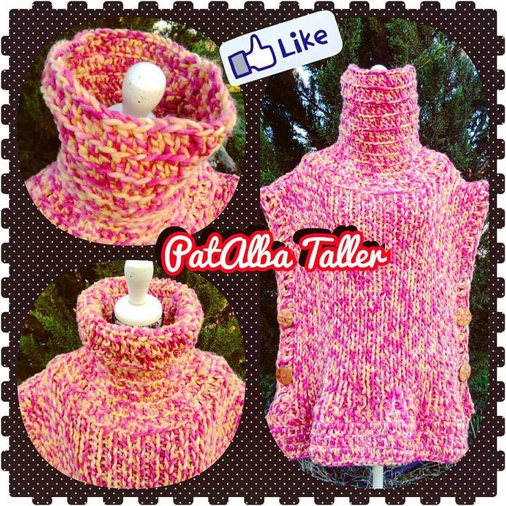 Poncho tejido, palillo y crochet....pedido terminado @yasna2322 😉  #patalbataller #diseñoindependiente #emprendedora #artesana #vestuario #tejidos #palillos #crochet #pedidos