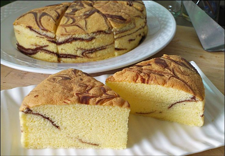 KitchenTigress: Marble Butter Sponge Cake (Tang Mian Method)