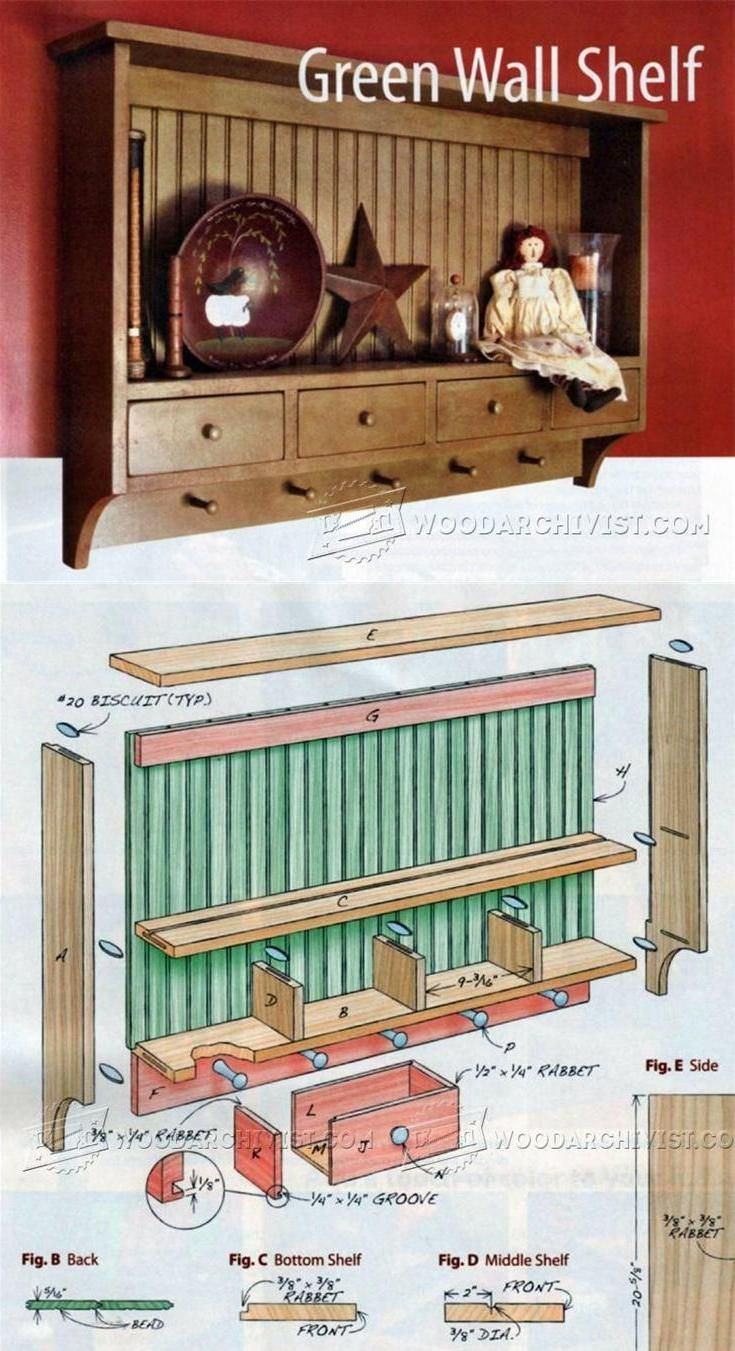 Wall Shelf Plans - Woodworking Plans and Projects | WoodArchivist.com