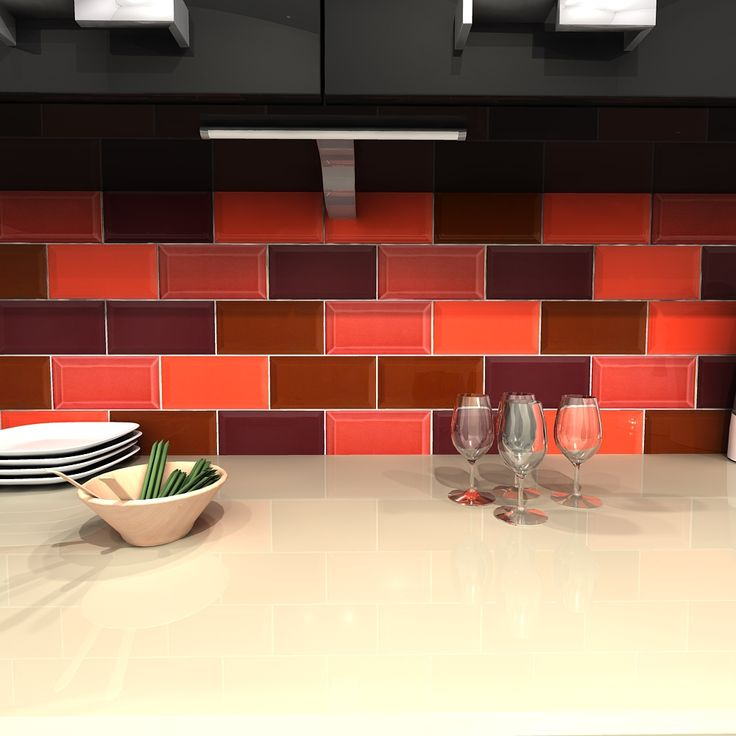 Contemporary Kitchen Tiles Liverpool Combining Our St Pauls Highbury Burnt Oak And Moorgate Metro Tilesbrick Tileskitchen On Decorating Ideas