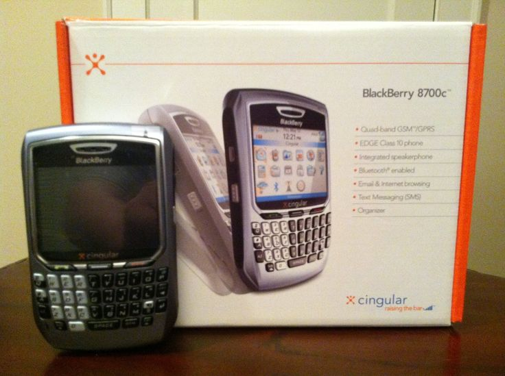BlackBerry 8700c Cingular GSM Wireless Silver (Unlocked) Smartphone REFURBISHED