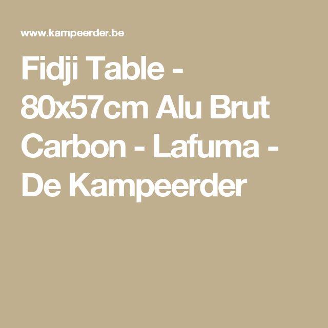 Fidji Table - 80x57cm Alu Brut Carbon - Lafuma - De Kampeerder