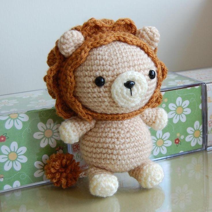 Crocheted Lion -- LOOK AT THE CUTENESS!!!!:  Teddy Bears, Crochet Ideas, Kids Diy, Lion Gurumi, Crochet Amigurumi, Lion Amigurumi, Crochet Patterns, Dolls Patterns, Amigurumi Patterns