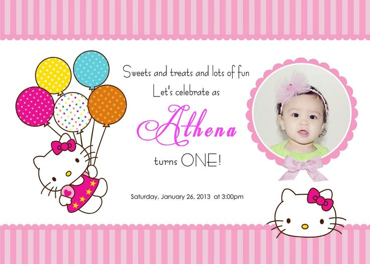 Hello Kitty Invitations Templates | Places to Visit | Pinterest ...