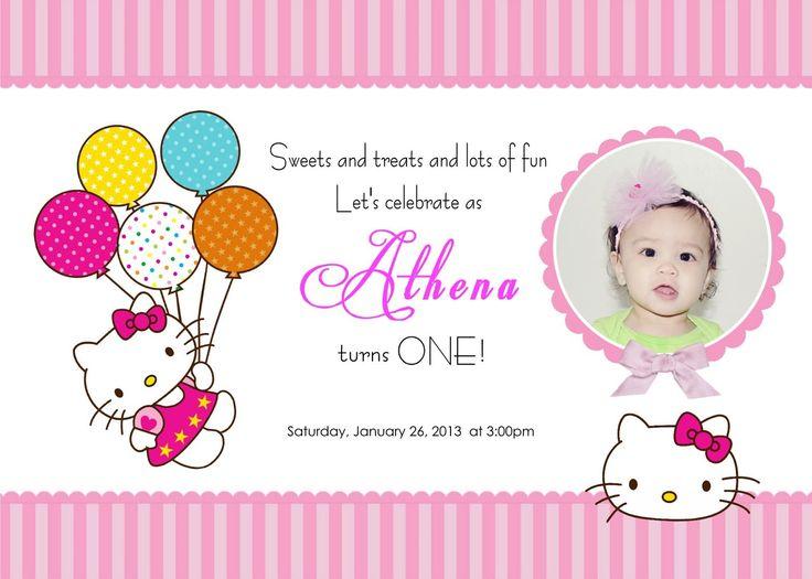 Hello Kitty Invitations Templates