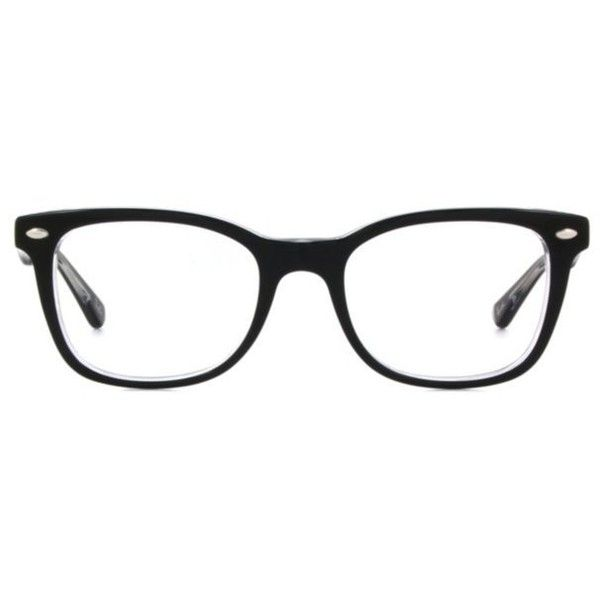 Ray-Ban RX5285 Women's Eyeglasses ($180) ❤ liked on Polyvore featuring accessories, eyewear, eyeglasses, glasses, black, ray-ban eye glasses, acetate glasses, square eyeglasses, square glasses and retro eyeglasses
