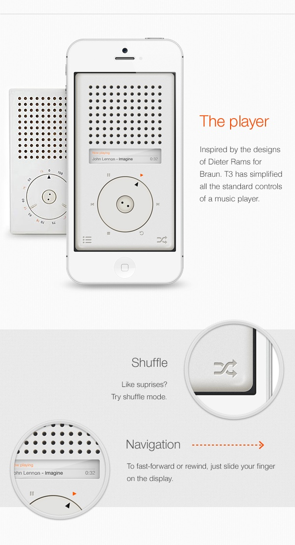 Oh look a device from a company that stole Braun's designs running an app stealing Braun's design.