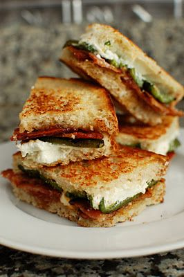 Jalapeno Popper Inspired Grilled Cheese (although, I will be using something other than goat cheese)