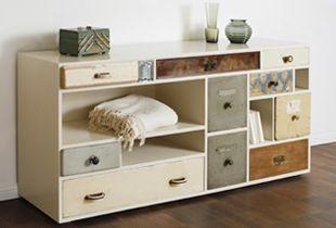 gerecycleerde meubels