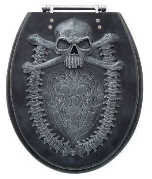 Skull commode seat cover