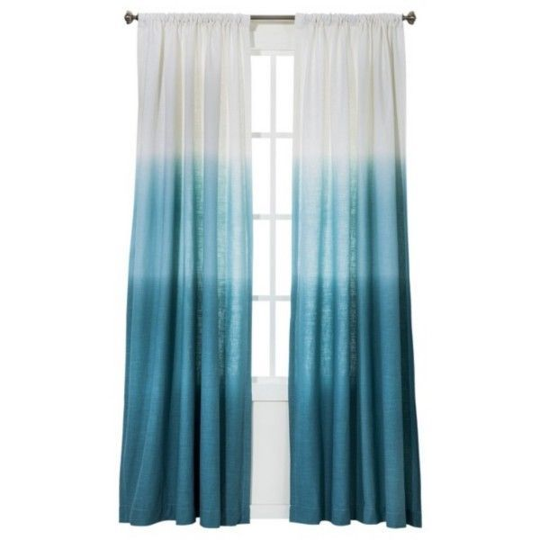 "Threshold Blue Ombre Stripe Window Curtain Panel 84"" Target Teal NEW $ ..."