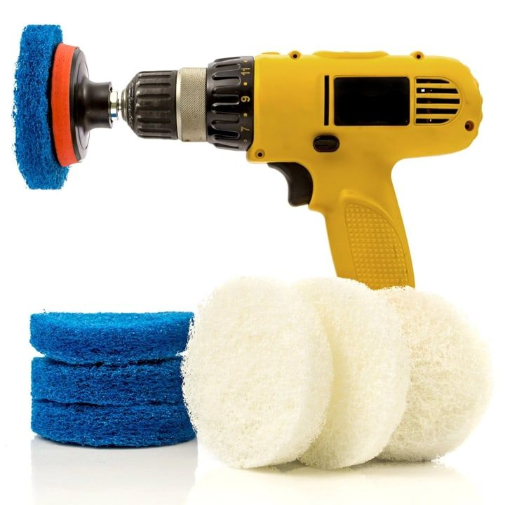 Just attach these scrub brushes and sponges to your drill and you'll have a powerful cleaning tool to help you get rid of all those problem messes. Get them on Amazon for $16.